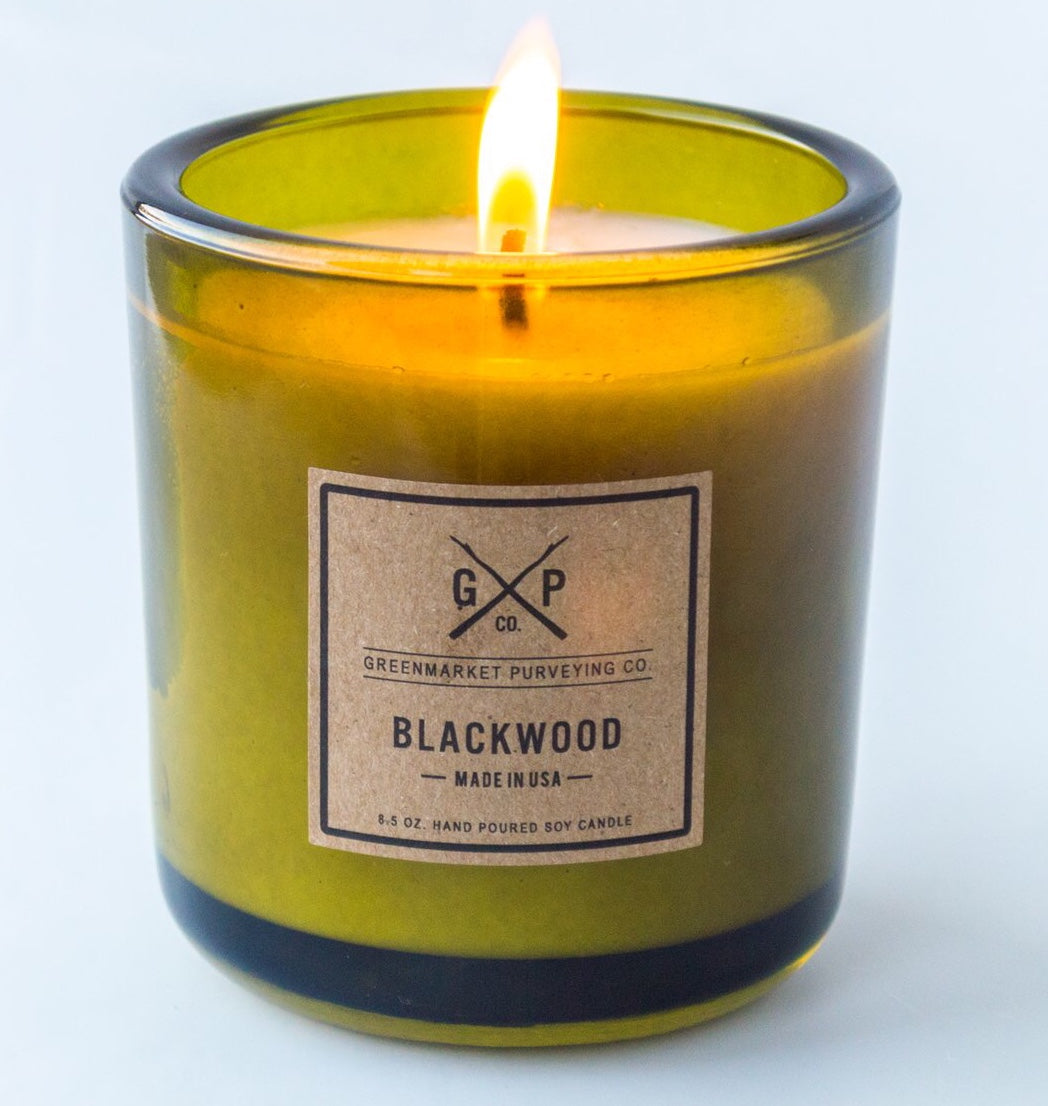 Greenmarket Purveying Blackwood Candle