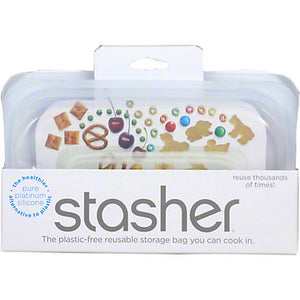 Stasher Silicone Snack Bag in Clear