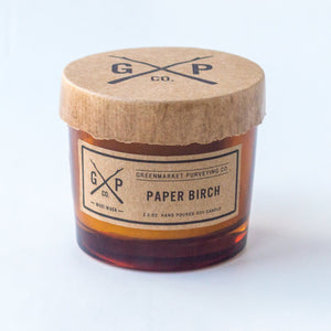 Greenmarket Purveying Paper Birch Candle