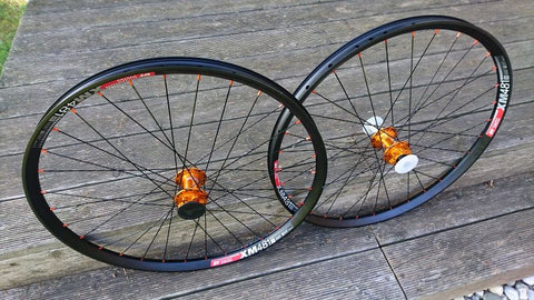 "Dt Swiss XM481 27,5"" - Hope Pro4 Evo Orange - Panchowheels custom handbuildt wheelset"