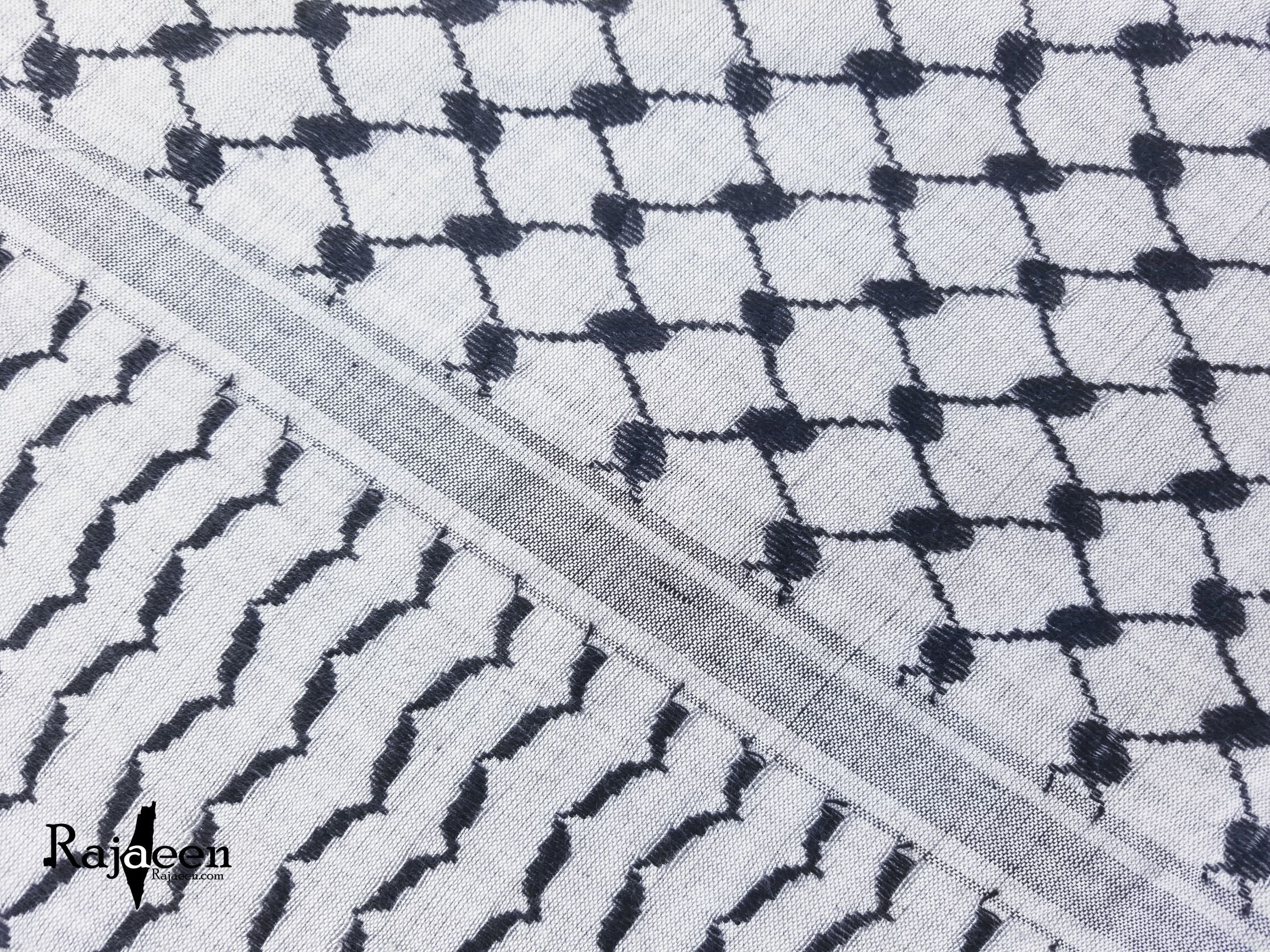 Hirbawi Keffiyeh Scarf Made in Palestine - the Black and Gray Shemagh