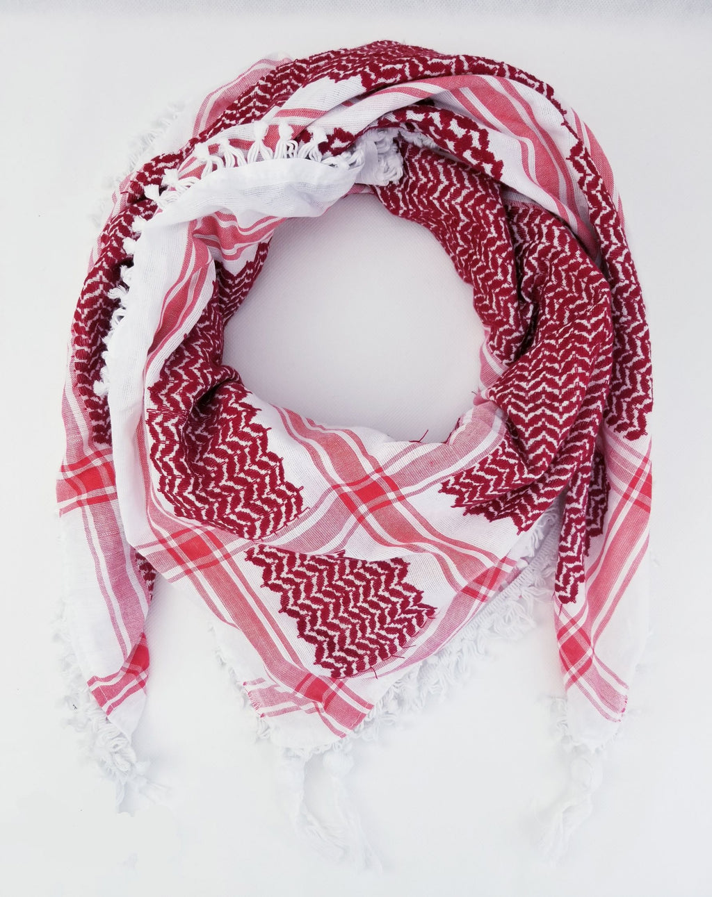 Hirbawi Keffiyeh Scarf Made in Palestine - Red Color