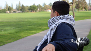 Hirbawi Keffiyeh Scarf Made in Palestine - the Black and White Shemagh
