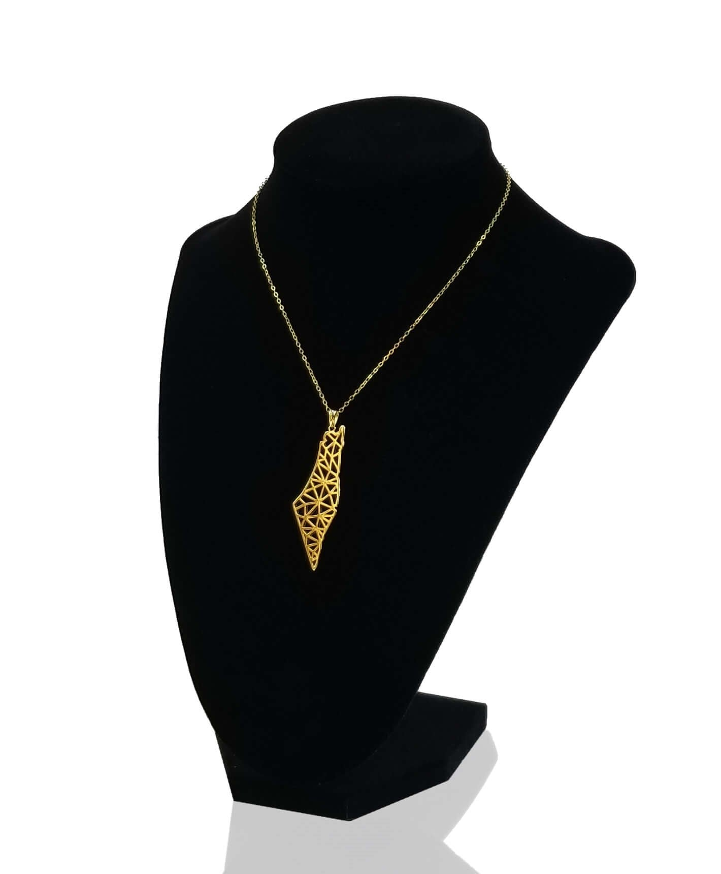 Gold Palestine Map Necklace Andalusia