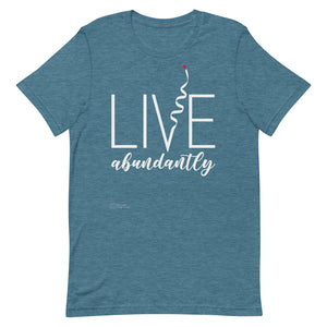 Live Abundantly Short-Sleeve Men's T-Shirt