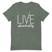 Load image into Gallery viewer, Live Abundantly Short-Sleeve Men's T-Shirt