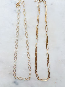 Thick jump ring chain
