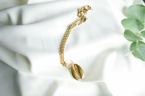 Golden Cowrie Chocker | African Jewelry | Afrominimalist | Brass Jewerly