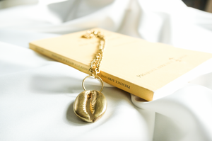 Golden Cowrie Chocker | African Jewellery | Afrominimalist | Brass Jewellery