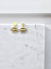Load image into Gallery viewer, Deng Earrings | Afro minimalist | African earrings | African jewelry