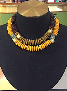 Krobronze necklace | Afrominimalist | African necklace | African jewellery