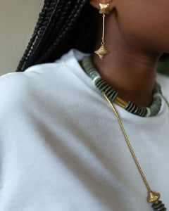 Krobronze necklace | Afrominimalist | African necklace | African jewelry