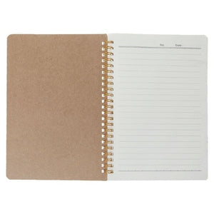 A5 Bullet Notebook Kraft Dot Grid Time Management Blank Book Spiral Journal Weekly Planner School Office Supplies M5TB