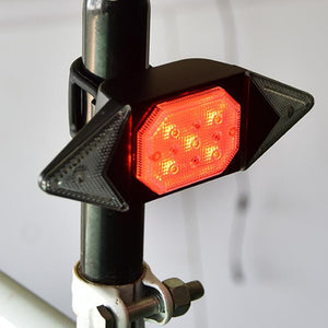 LED Automatic Direction Indicator Bicycle Rear Taillight USB Rechargeable Cycling MTB Bike Safety Warning Turn Signals Light
