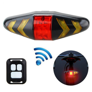Bicycle USB LED Headlights Indicator Wireless Remote Control Turn Signal Lamp Mountain Bike Cycling Lights Flashing Taillight