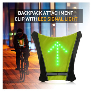 bike light Turnning Signal Bicycle bike Indicator Outdoor Hiking Camping Light Reflective Vest Bicycle Safety LED Backpack