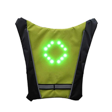 Load image into Gallery viewer, bike light Turnning Signal Bicycle bike Indicator Outdoor Hiking Camping Light Reflective Vest Bicycle Safety LED Backpack