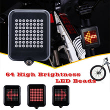 Load image into Gallery viewer, 64 LED Automatic Direction Indicator Bicycle Lights Smart Induction Steering Safety Warning Turn Signals Light Cycling Taillight