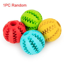 Load image into Gallery viewer, 1pc Sof Pet Dog Toys Ball Interactive Elasticity Ball Dog Chew Toy Tooth Clean Rubber Ball Toys For Dogs Treats Food Dispenser