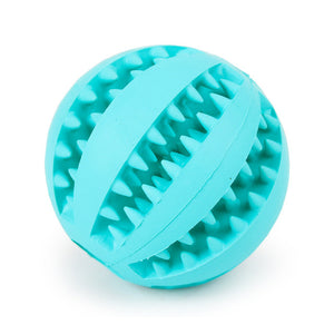 1pc Sof Pet Dog Toys Ball Interactive Elasticity Ball Dog Chew Toy Tooth Clean Rubber Ball Toys For Dogs Treats Food Dispenser