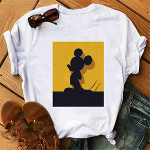 Harajuku Mouse Cartoon Printing T Shirts Women Mickey Graphic Tshirt Summer Short Sleeve Cute Shirt Vogue Tops Female T-Shirts