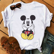 Load image into Gallery viewer, Harajuku Mouse Cartoon Printing T Shirts Women Mickey Graphic Tshirt Summer Short Sleeve Cute Shirt Vogue Tops Female T-Shirts