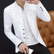 Load image into Gallery viewer, HO 2020 Men 's casual collar collar blazers youth handsome trend Slim print blazers   5XL   6XL