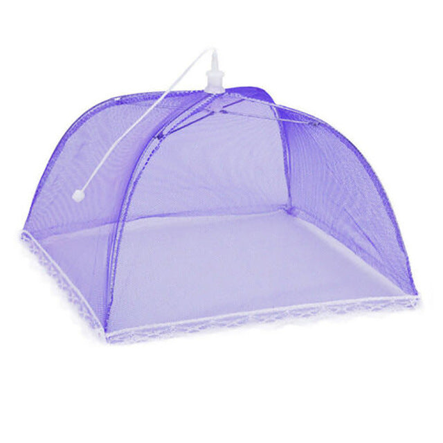 Large Pop-Up Mesh Screen Food Cover Anti Mosquito Fly Resistant Tent Lace Net Umbrella Collapsible Outdoor Picnic Food Covers