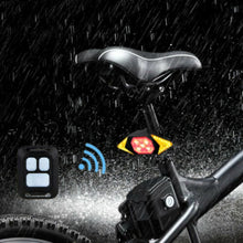 Load image into Gallery viewer, LED Wireless Remote Direction Indicator Bicycle Rear Taillight USB Rechargeable Cycling Bike Safety Warning Turn Signals Light