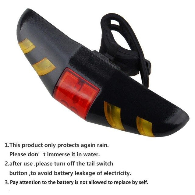 Light Turn Signals Taillight Safety Warning Automatic Direction Indicator Bicycle Rear USB Rechargeable Cycling MTB Bike