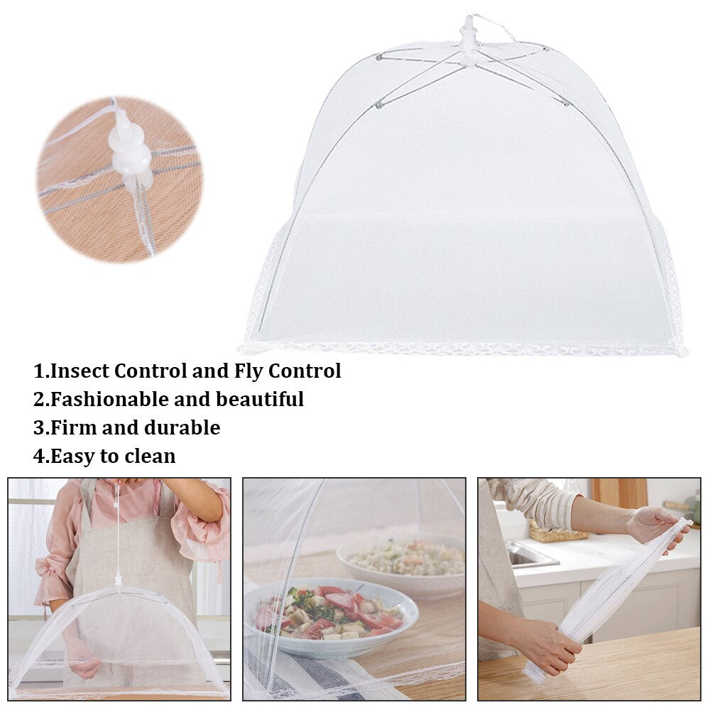 1PC Food Cover Anti Fly Mosquito Cover Large Pop-Up Mesh Screen Protect Food Covers Tent Dome Net Umbrella Picnic Food Protector