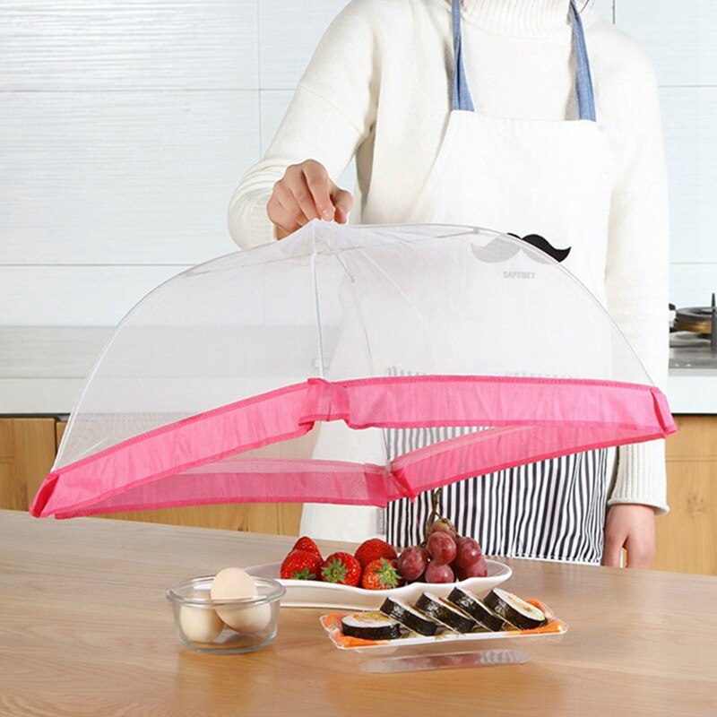 Large Pop-Up Mesh Screen Protect Food Cover Tent Dome Net Umbrella Picnic Kitchen Folded Mesh Anti Fly Mosquito Umbrella