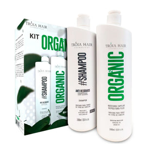 Kit Tróia Organic Hair Definitive Progressive Without Formaldehyde 1L/ 33, 81fl.oz