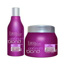 Load image into Gallery viewer, Forever Liss Platinum Blond Matizer Kit (Shampoo+ Mask)