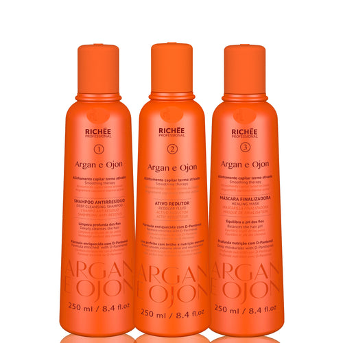 Richée Professional Progressive Argan and Ojon Trio Kit 3x250ml/ 3x8.45