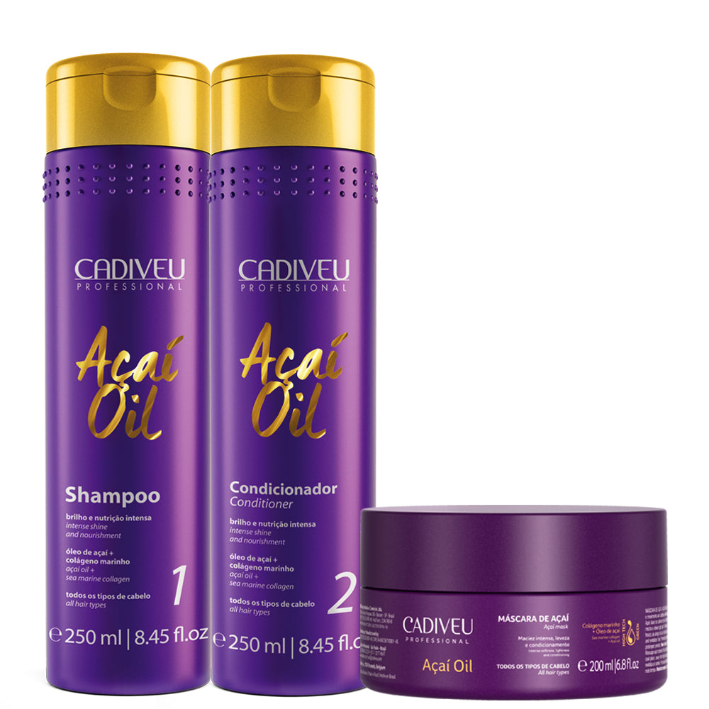 Cadiveu Acai Oil Kit Home Care Hydration