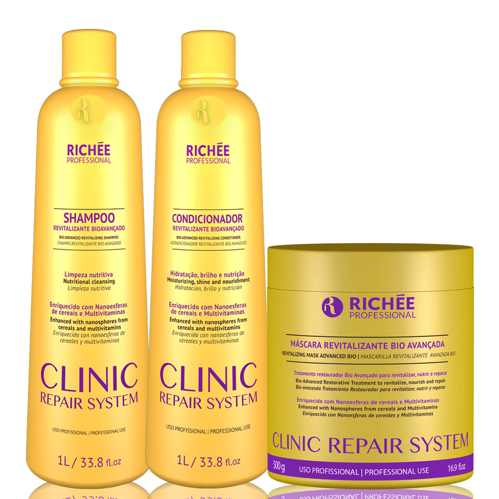 Richée Professional Clinic Repair System Trio Salon Kit (3 Products)