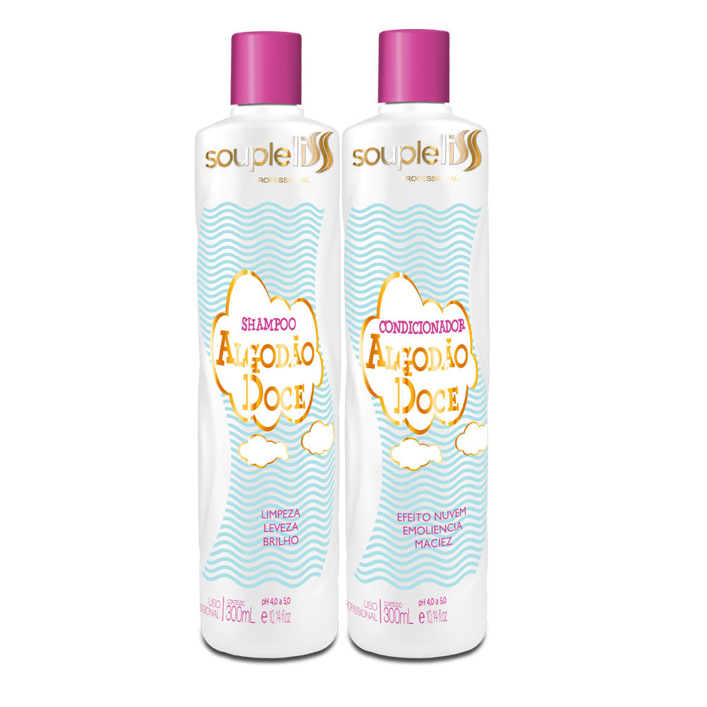 SoupleLiss Cotton Candy Shampoo + Conditioner 300ml / 10.14fl.oz