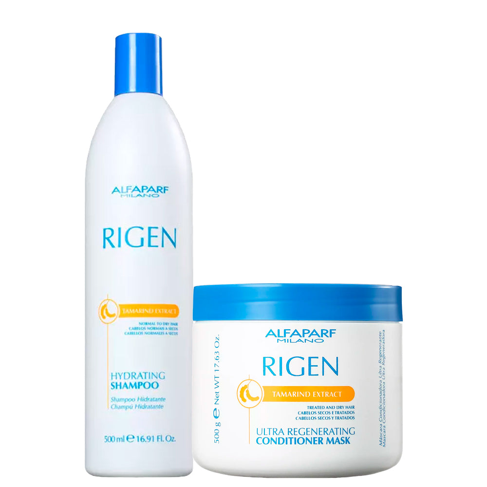 Alfaparf Rigen Hydrating Kit Daily Care Nourishes and Moisturizes