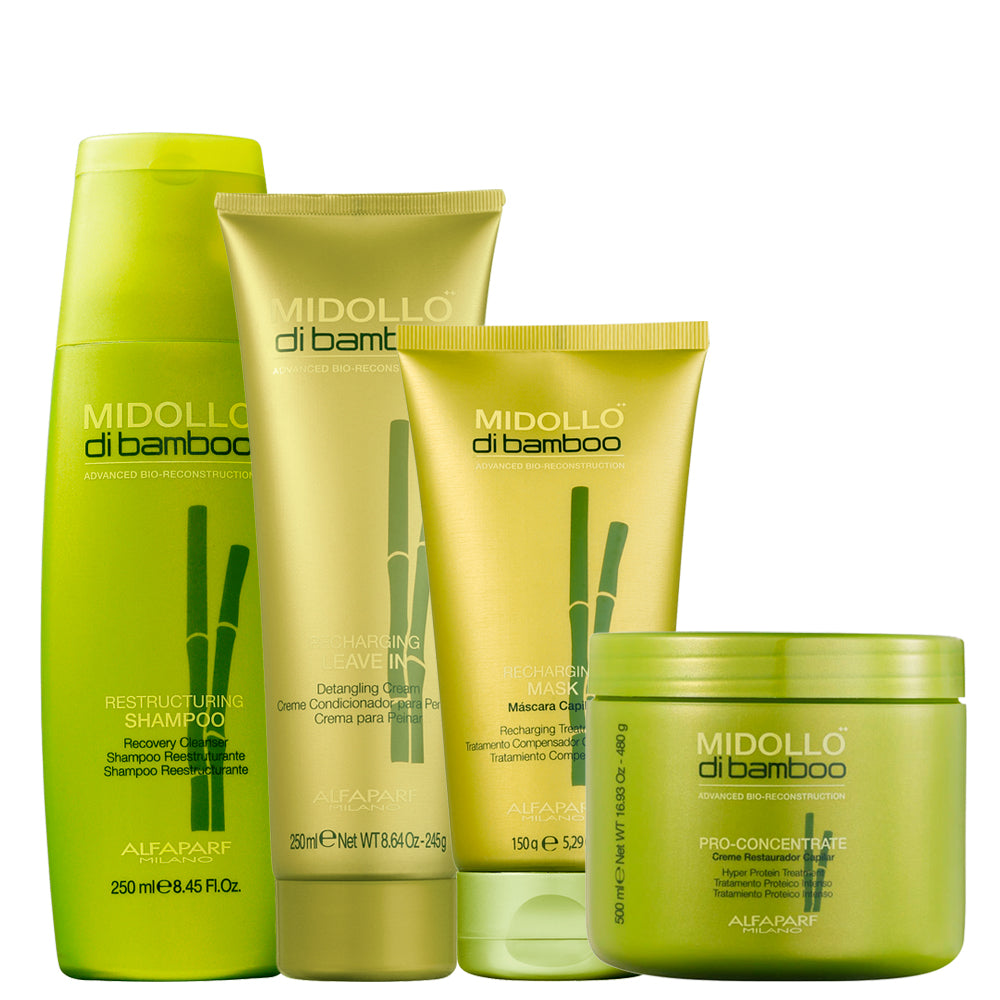 Alfaparf Midollo Di Bamboo Treatment Kit for Reconstruction