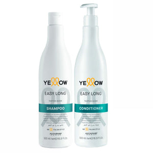 Alfaparf Yellow Kit Easy Long Shampo & Conditioner Tahitian Algae