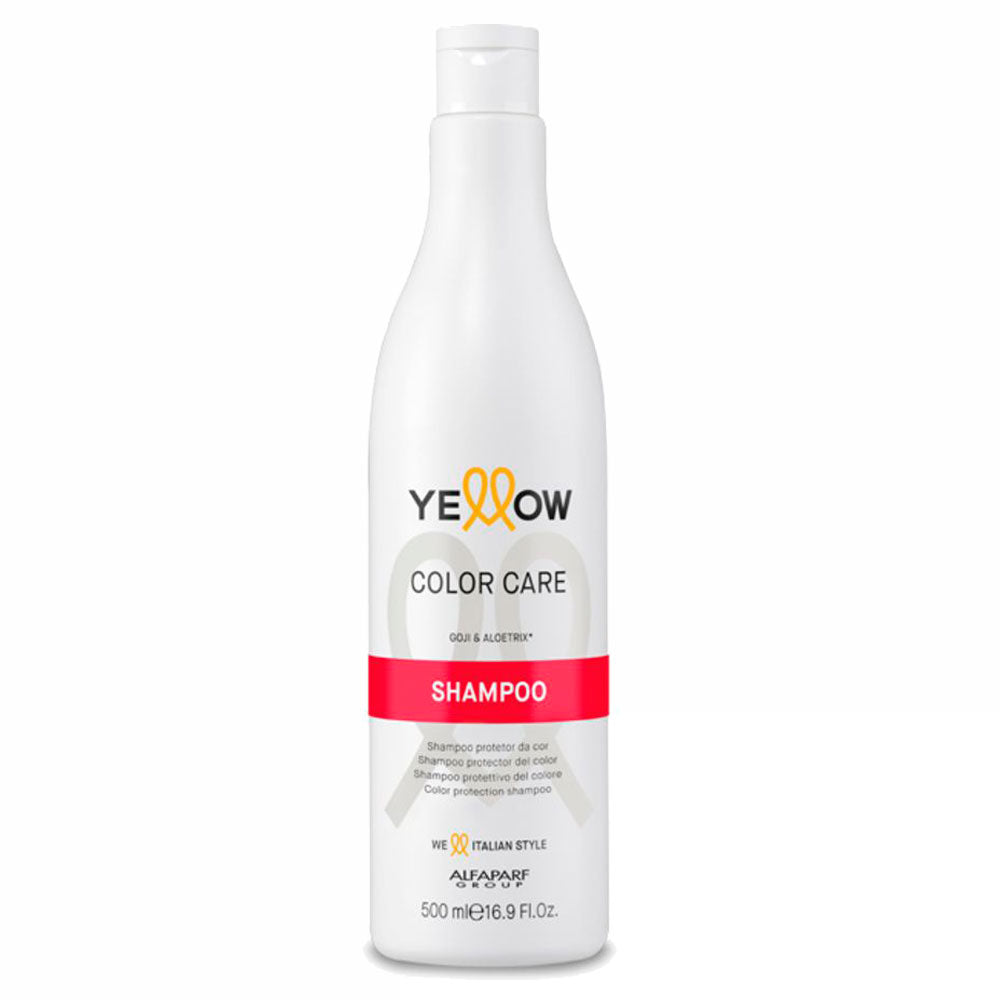 Alfaparf Yellow Color Care Shampoo Protetor da Cor Goji e Aloetrix 500ml/16.9fl.oz