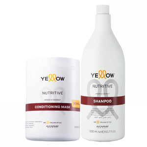 Alfaparf Yellow Nutritive Shampoo & Conditioning Mask Professional Kit