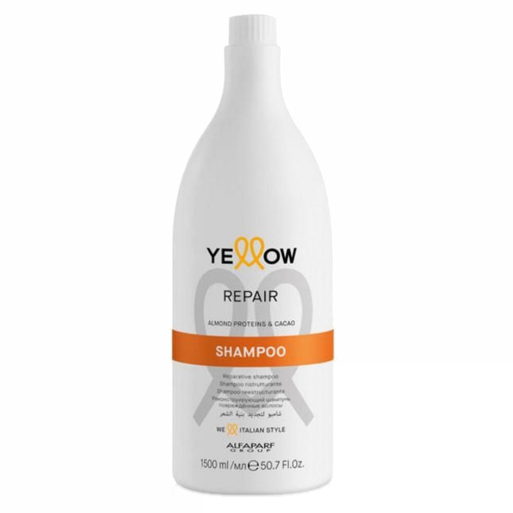 Alfaparf Yellow Repair Shampoo With Almond Proteins & Cacao 1,5L/50.7fl.oz
