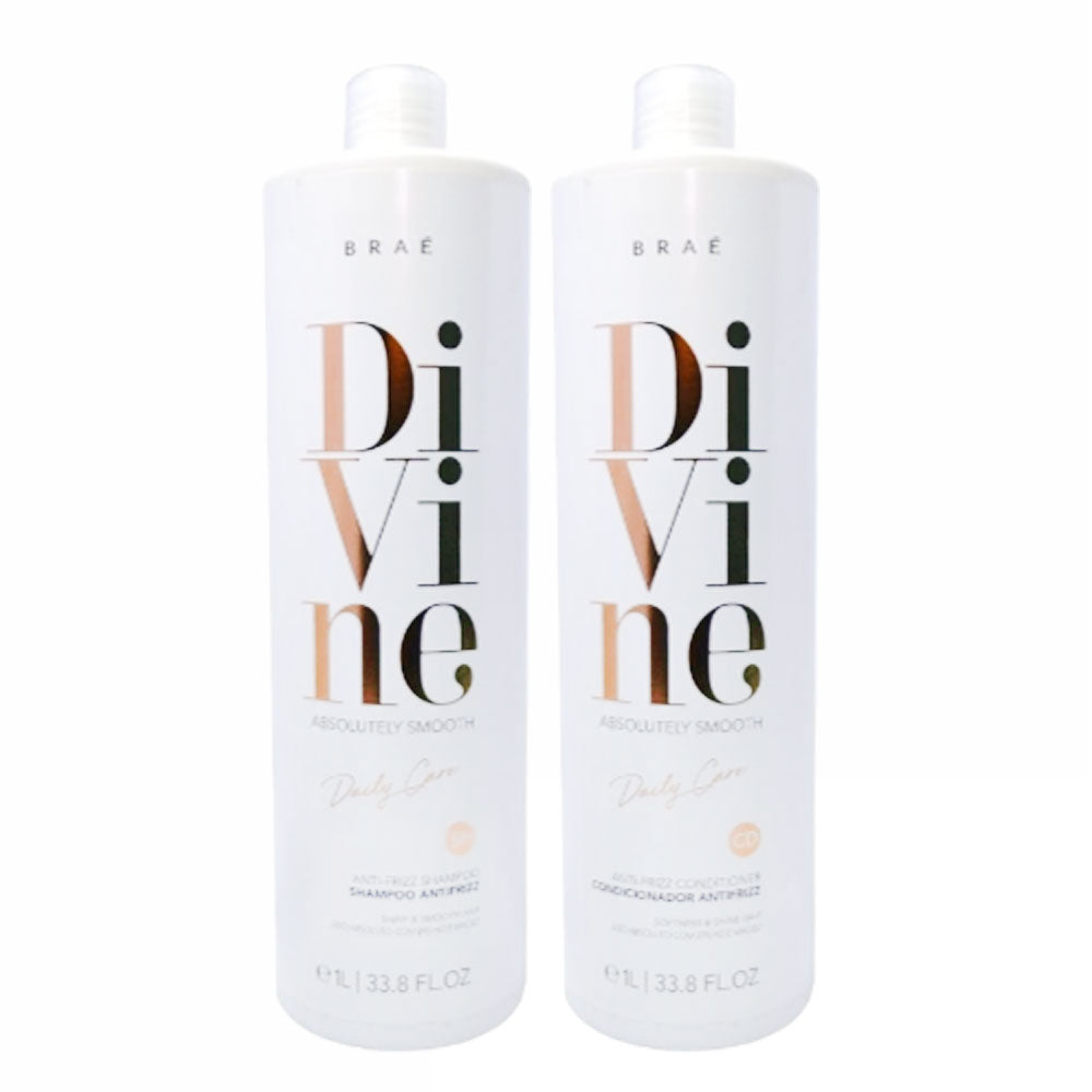 Braé Divine Absolutely Smooth Shampoo and Conditioner 2x1L/33.8fl.oz