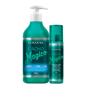 Lowell Cacho Mágico Modeler Cream and Fluid Curl Activator
