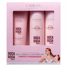 Load image into Gallery viewer, Cadiveu feat Boca Rosa Kit Shampoo, Conditioner and Protein Conditioner