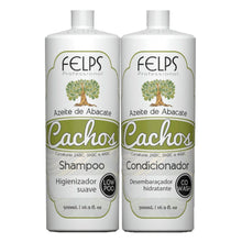 Load image into Gallery viewer, Felps Kit Curls Avocado Oil Shampoo and Conditioner 2x500ml/2x16.9fl.oz