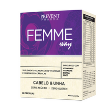 Load image into Gallery viewer, Prevent Pharma Femme Way Supplement for Hair and Nails 60 Capsules
