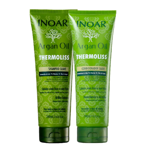 Kit Inoar Argan Oil Thermoliss Reduces Frizz Shampoo + Cond.